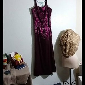 Size 12 plum to cranberry formal dress